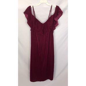 Plenty by Tracy Reese Burgundy Velvet Dress Size M